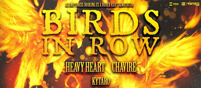 Birds In Row (FR), Heavy Heart (FR), Chaviré (FR), Kytaro