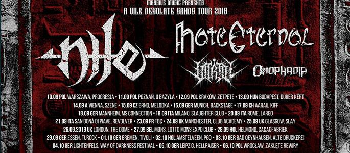 Nile, Hate Eternal, Vitriol, Omophagia