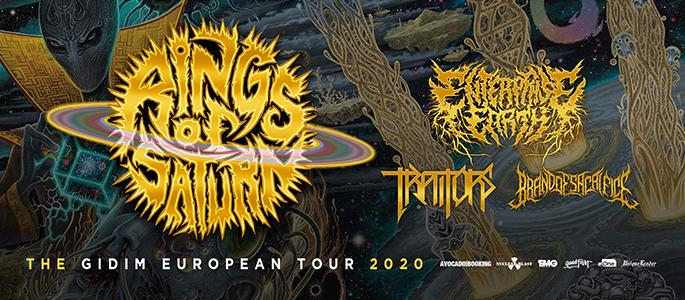 Sold out! - Rings of Saturn - The Gidim European Tour 2020