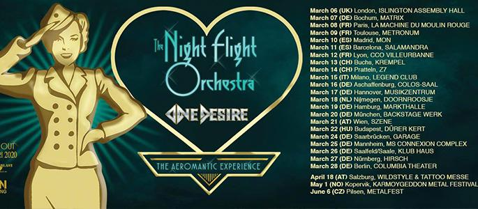 The Night Flight Orchestra & One Desire live