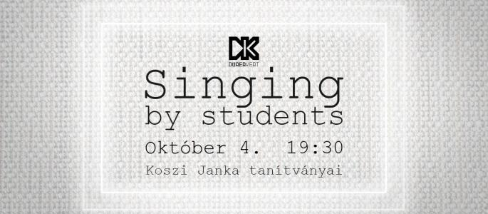 Singing by students